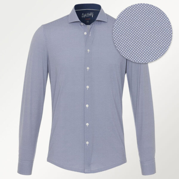 Pure strækbar skjorte med mønster