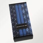 Bosswik lommetørklæder i mørke farver