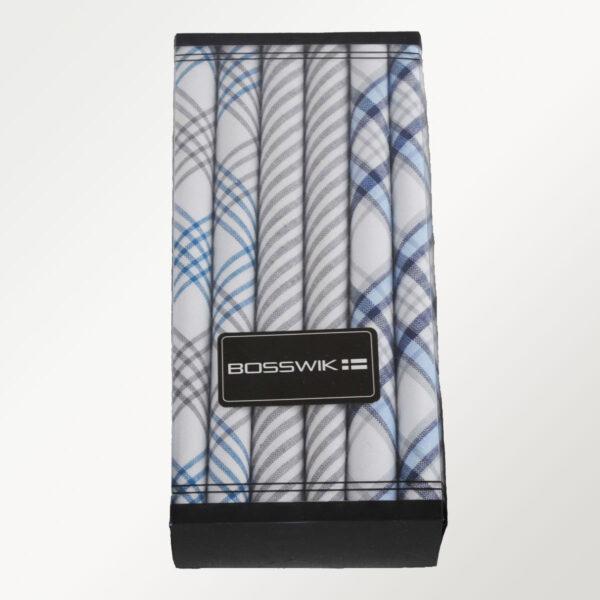 Bosswik lyse blå lommetørklæder