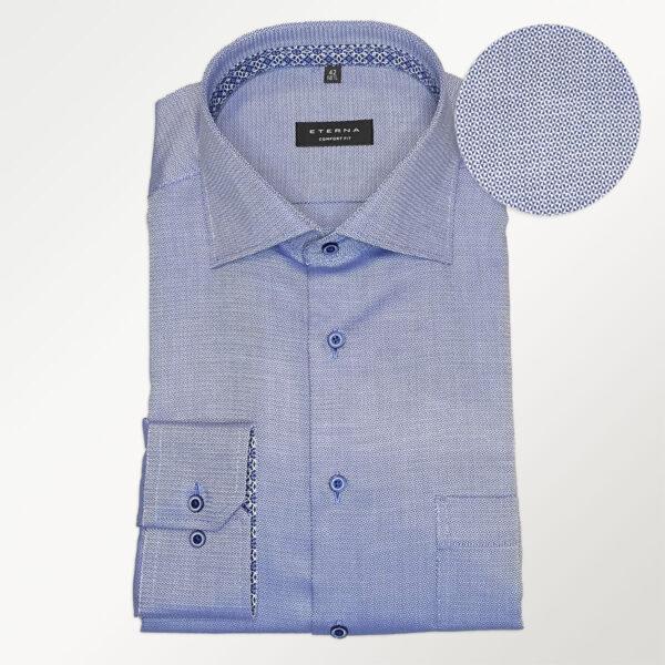 Eterna blå skjorte i comfort fit