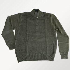 Berntson pullover i strik, grøn