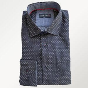 Berntson herreskjorte, sort med diskret mønster