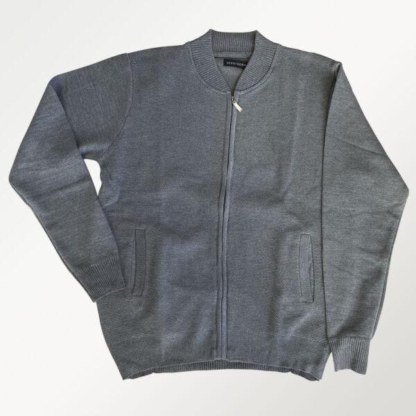 Berntson cardigan i strik i grå